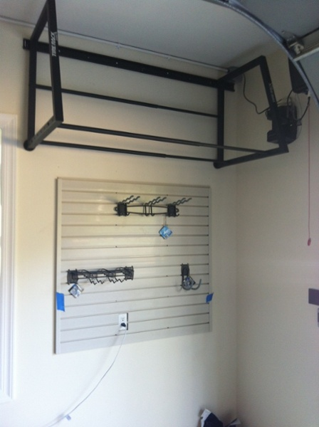 Tire Rack and Slat Wall Organization